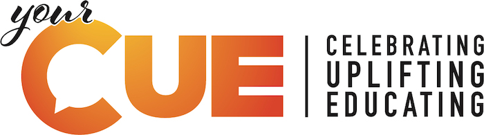 The cue logo, listen on NewsRadio KQEN 1240 AM every Thursday from 4-5